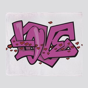 Love Graffiti Throw Blanket