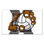 Apex Volleyball Sticker (Rectangle 50 pk)