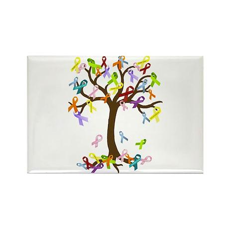 Ribbon Tree Rectangle Magnet