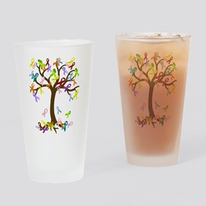 Ribbon Tree Drinking Glass