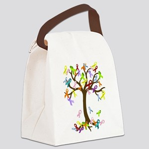 Ribbon Tree Canvas Lunch Bag