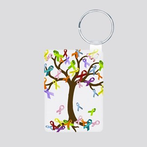 Ribbon Tree Aluminum Photo Keychain