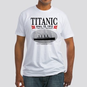 Titanic Ghost Ship (white) Fitted T-Shirt