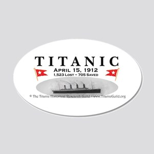 Titanic Ghost Ship (white) 20x12 Oval Wall Decal