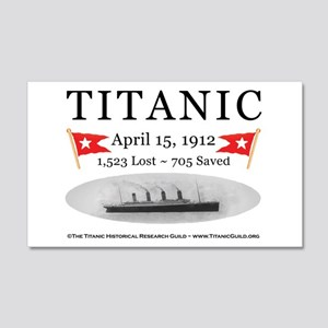 Titanic Ghost Ship (white) 20x12 Wall Decal