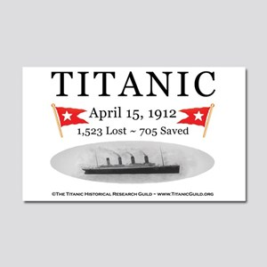 Titanic Ghost Ship (white) Car Magnet 20 x 12