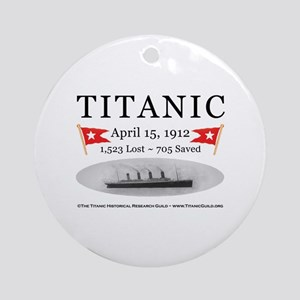 Titanic Ghost Ship (white) Ornament (Round)
