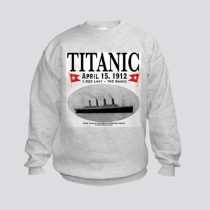 Titanic Ghost Ship (white) Kids Sweatshirt