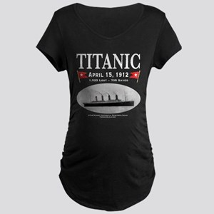 Titanic Ghost Ship (white) Maternity Dark T-Shirt