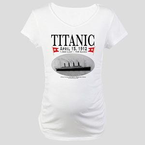 Titanic Ghost Ship (white) Maternity T-Shirt