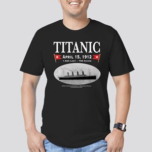 Titanic Ghost Ship (white) Men's Fitted T-Shirt (d