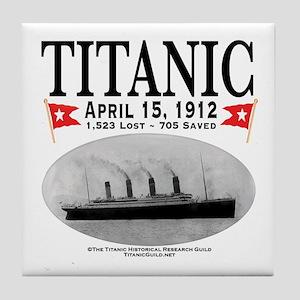 Titanic Ghost Ship (white) Tile Coaster