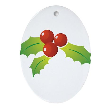 Mistletoe Ornament (Oval)