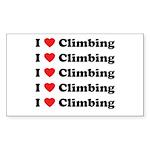 iloveclimbingMultiple Sticker (Rectangle 10 pk)