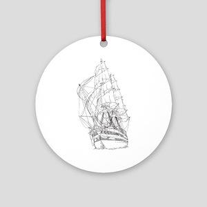 Ship Ornament (Round)
