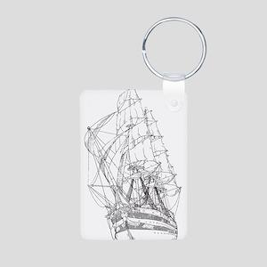 Ship Aluminum Photo Keychain