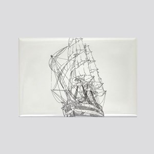 Ship Rectangle Magnet