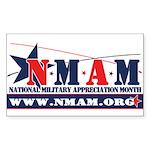 newNMAM Sticker (Rectangle 10 pk)