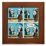 Halloween Daddys Home Saw Mask Framed Tile