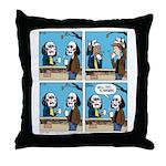 Halloween Daddys Home Saw Mask Throw Pillow