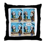 Halloween Daddys Home Saw Mask Throw Pillow