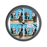 Halloween Daddys Home Saw Mask Wall Clock