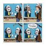Halloween Daddys Home Saw Mask Tile Coaster