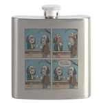 Halloween Daddys Home Saw Mask Flask
