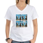 Halloween Daddys Home Saw Mask Women's V-Neck T-Sh