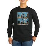 Halloween Daddys Home Saw Mask Long Sleeve Dark T-