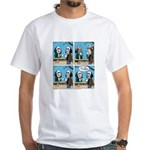 Halloween Daddys Home Saw Mask White T-Shirt