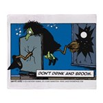 Halloween Daddys Home Witch Throw Blanket