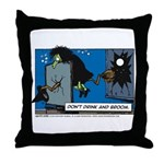 Halloween Daddys Home Witch Throw Pillow