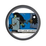 Halloween Daddys Home Witch Wall Clock