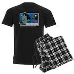 Halloween Daddys Home Witch Men's Dark Pajamas