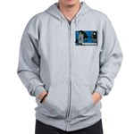 Halloween Daddys Home Witch Zip Hoodie