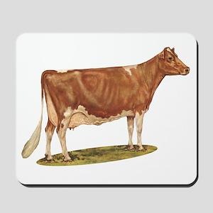 Ideal Guernsey Cow Mousepad