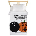 Halloween Daddys Home Pumpkin Twin Duvet