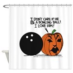 Halloween Daddys Home Pumpkin Shower Curtain