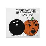 Halloween Daddys Home Pumpkin Throw Blanket