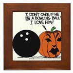 Halloween Daddys Home Pumpkin Framed Tile