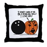 Halloween Daddys Home Pumpkin Throw Pillow