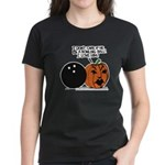 Halloween Daddys Home Pumpkin Women's Dark T-Shirt