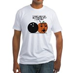 Halloween Daddys Home Pumpkin Fitted T-Shirt
