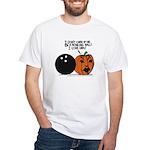 Halloween Daddys Home Pumpkin White T-Shirt