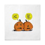 Halloween Daddys Home Pumpkins Queen Duvet