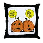 Halloween Daddys Home Pumpkins Throw Pillow