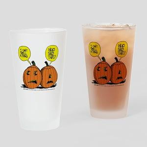Halloween Daddys Home Pumpkins Drinking Glass