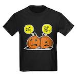 Halloween Daddys Home Pumpkins Kids Dark T-Shirt