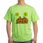 Halloween Daddys Home Pumpkins Green T-Shirt